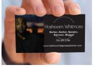 barber tools business card
